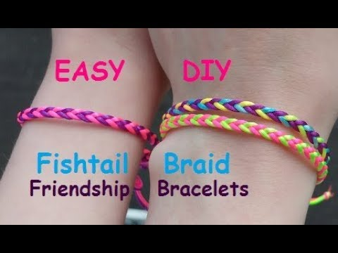 Quick And Easy Fishtail Braid Friendship Bracelet Tutorial