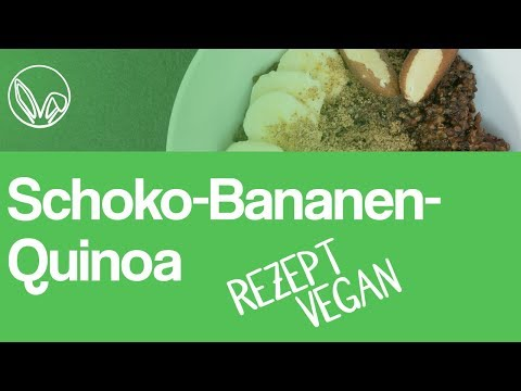 Gesundes Quinoa Frühstücksrezept | Veganes Schoko-Bananen-Quinoa oder böses Superfood?