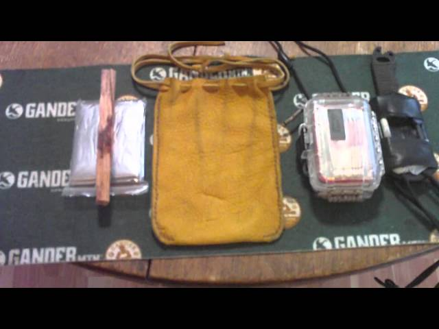 Hand made Elk Hide ditty bag sewn with artificial sinew Travel Video