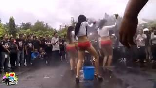 BIKINI MODELS Washing Cars |  Chick Babe Crazy THE WORLD OF CARS | Best Hot Girl Dancing || HD
