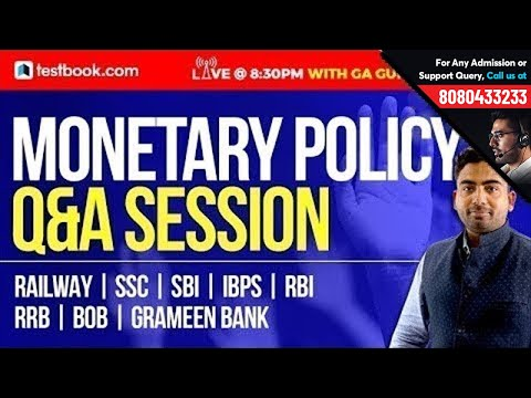 Monetary Policy Q&A Session | GA Guru - Abhijeet Sir | GK Notes For SSC | Banking | RRB | SBI