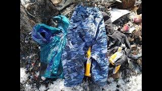 Burning old snowboard gear / snow pants & jackets