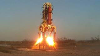 First and last 4 engine firing on B - rocket engine failure