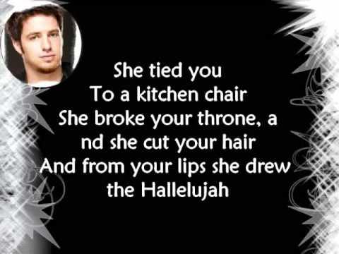 Lee DeWyze:  'Hallelujah' W/Lyrics
