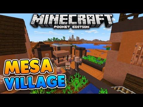 RARE MESA VILLAGE SEED for Minecraft Pocket Edition!!