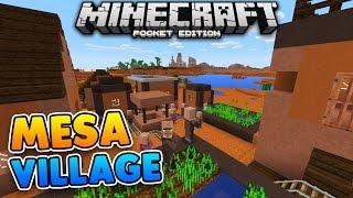 RARE MESA VILLAGE SEED for Minecraft Pocket Edition 1.0.9!!