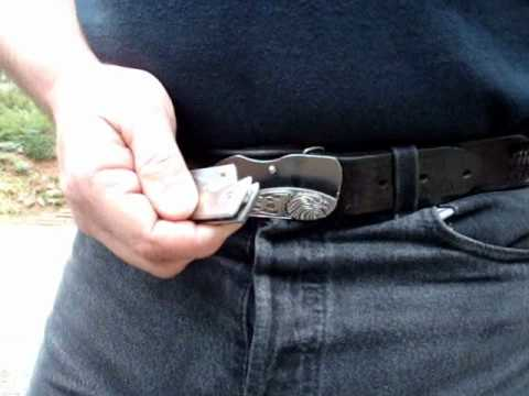 Belt Buckle Knife On Ebay Youtube