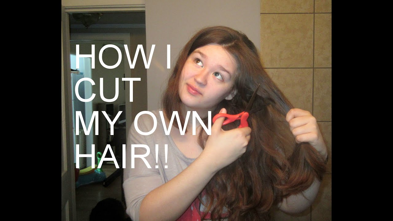 How i cut my own hair the ponytail method youtube solutioingenieria