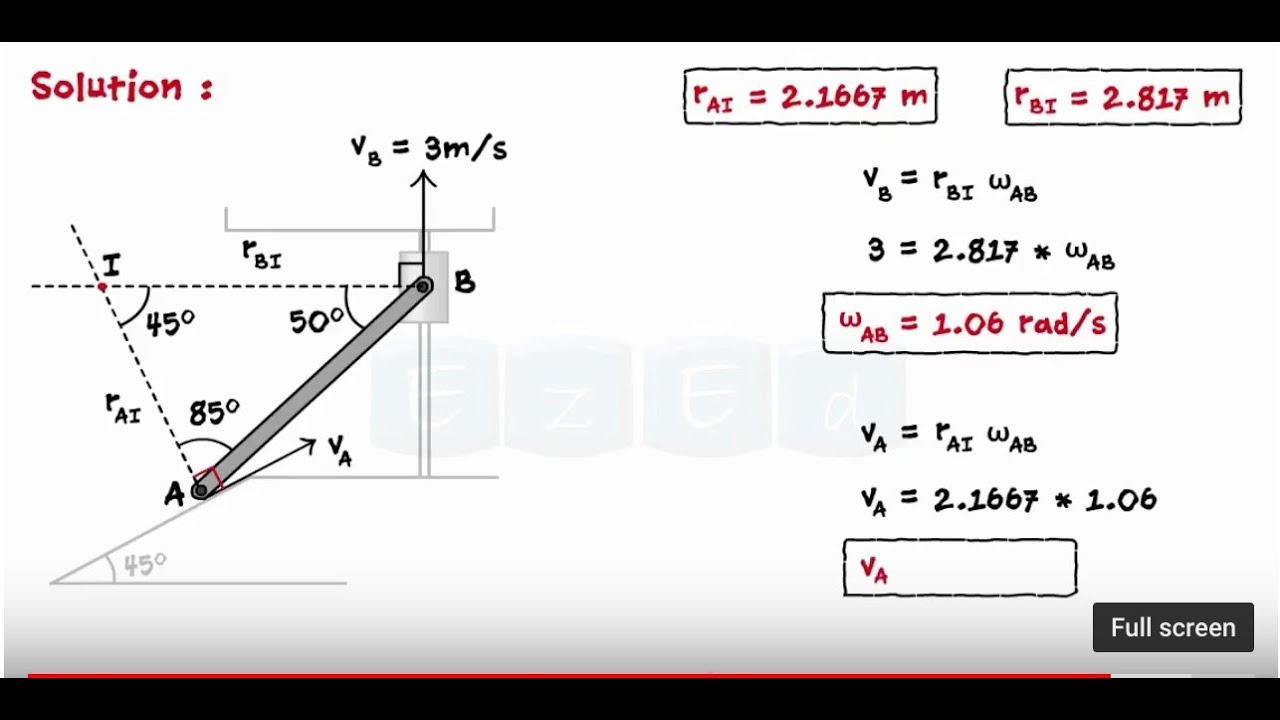 Kinematics Of Rigid Bodies - General Plane Motion - Solved Problems