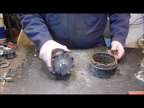 WHAT'S INSIDE AN ALTERNATOR (SCRAPPING)