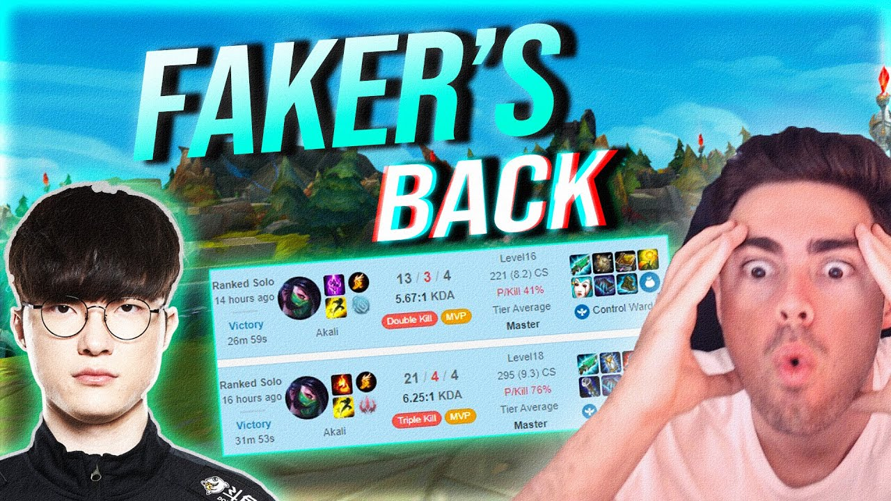 FAKER IS BACK! - STOMPING KR SoloQ with 20 + Kills on AKALI MID