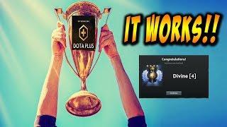 Dota Plus Works! Gaining Rank After 1 Game With Dota Plus! Dota Plus Secrets!