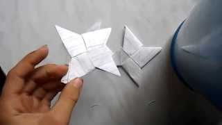 как сделать сюрикен, метательную звезду ниндзя из бумаги(Оригами)