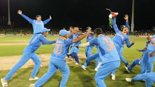 India ICC U19 World Cup 2018 Final Winning Moments Celebration Vs Australia | Rahul Dravid