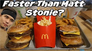 $3500 McDonald's Challenge Vs Matt Stonie! Could you Eat this in 90mins for $3,500? Viral Tweet