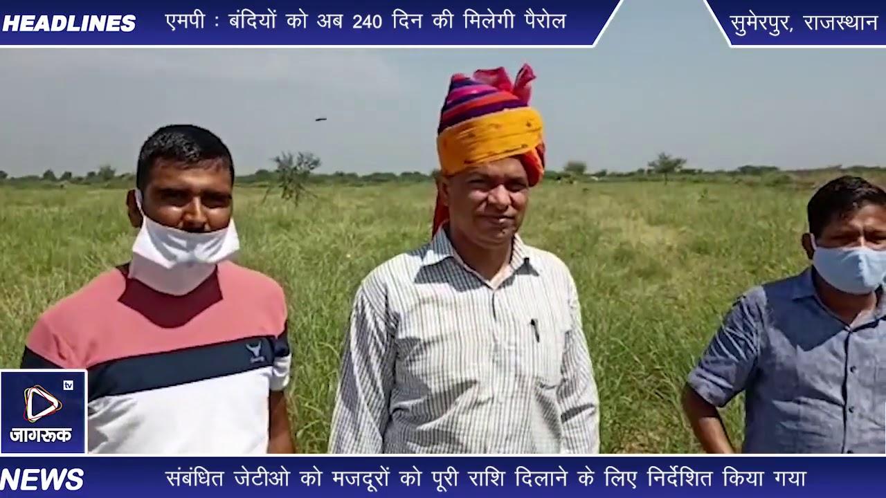 सुमेरपुर : सीओ ने किया विभिन्न ग्राम पंचायतों का दौरा कर, नरेगा कार्य का किया निरीक्षण