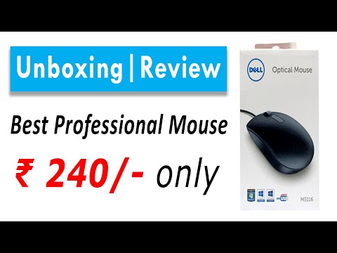 Best Mouse for Laptops l Dell MS116 Unboxing & Review |