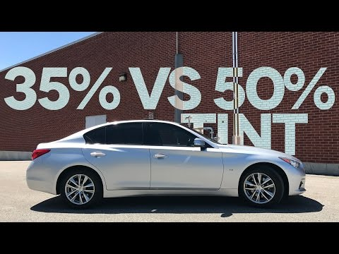 35%-vs.-50%-car-window-tint-comparison-(on-my-infiniti-q50)
