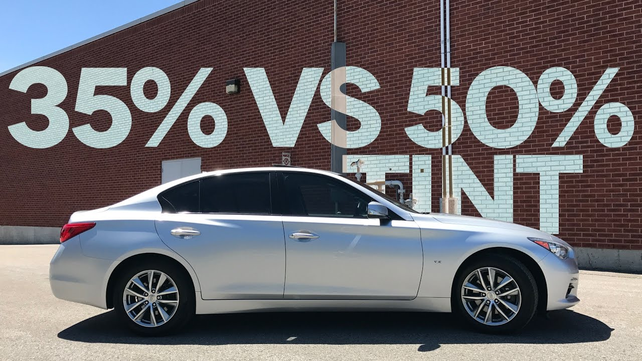 35 vs 50 car window tint comparison on my infiniti q50 for 20 40 window
