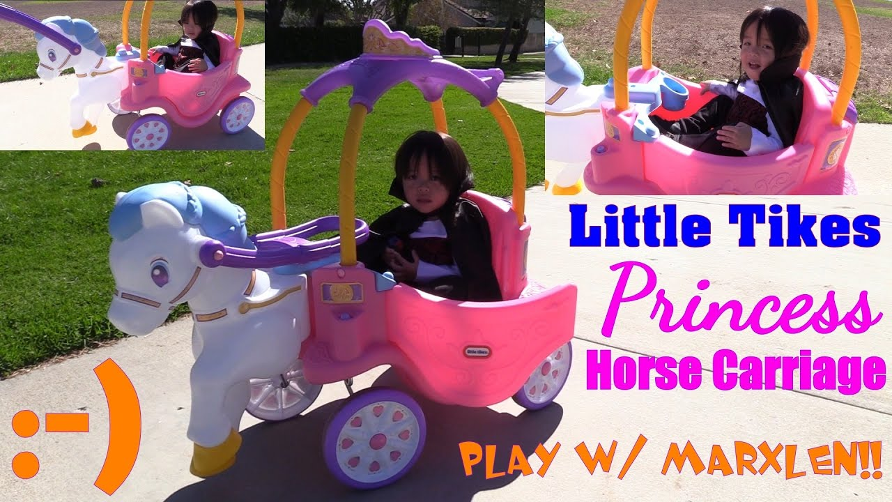 Little Tikes Ride On Toys : Toy channel kiddie horse ride little tikes princess carriage