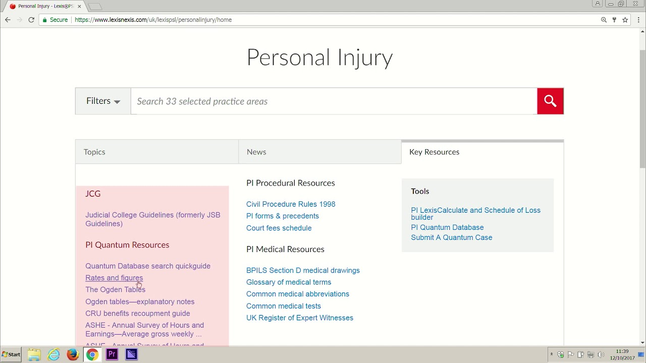 Judicial College Guidelines >> Lexis Psl Personal Injury The Key Resources Section