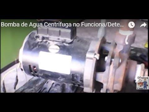 Bomba de Agua Centrífuga no Funciona/Detectar Falla