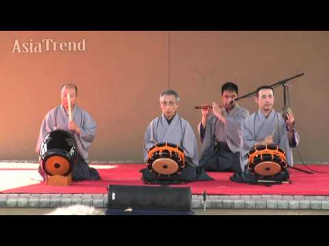 Traditional instruments performance by Special Guest Edo Sato Kagura - Orlando Japan Festival 2015