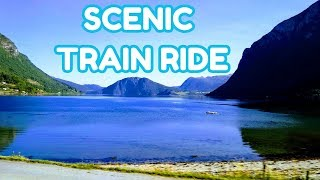 SCENIC VIEW BY TRAIN RIDE | My 4th Day Travel in Norway