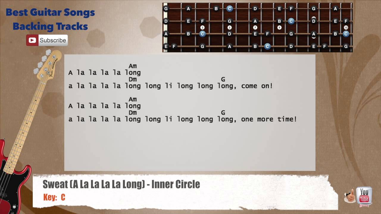 Sweat a la la la la long inner circle bass backing track with sweat a la la la la long inner circle bass backing track with scale chords and lyrics hexwebz Images