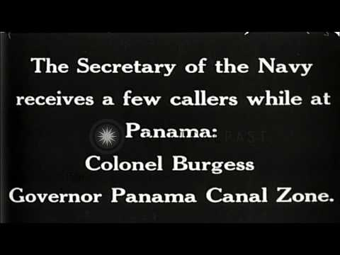 United States Secretary of Navy Charles Francis Adams with other officials on USS...HD Stock Footage
