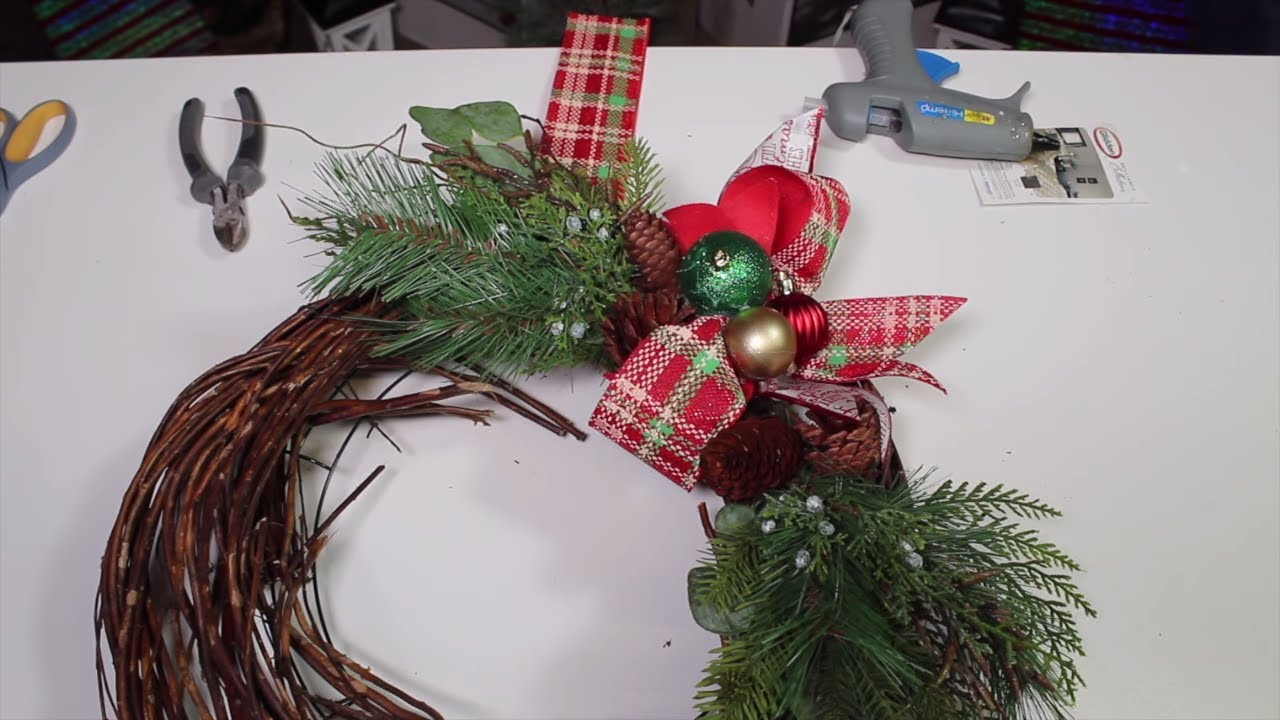 How To Conceal Your Wreath Hanger Christmas Wreath Hack Dollar