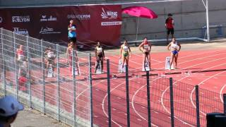 world-masters-athletics LYON 2015 - Final 100m   W40 (- 1.4 m/s)
