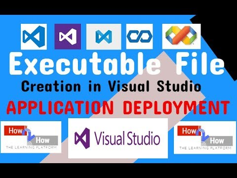 How To Create An Exe File In C# Visual Studio(2010,2012,2013,2015,2017) Windows Form Application