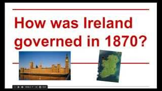 Government in Ireland in 1870 Group A