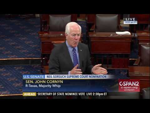 Sen. Cornyn Addresses the Tillerson and Supreme Court Justice Nominations