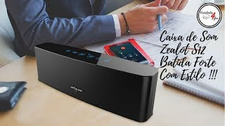 Zealot S12 Caixa De Som Bluetooth Potência Com Elegância!