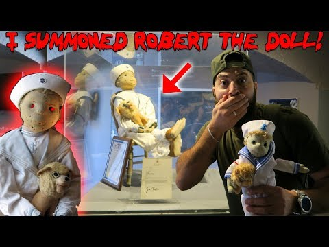 I SUMMONED ROBERT THE DOLL INTO A REPLICA DOLL AT A HAUNTED DOLL MUSEUM & THIS HAPPENED!