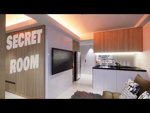 desain interior apartemen 2 bedroom 36 m2 dan studio 20m2