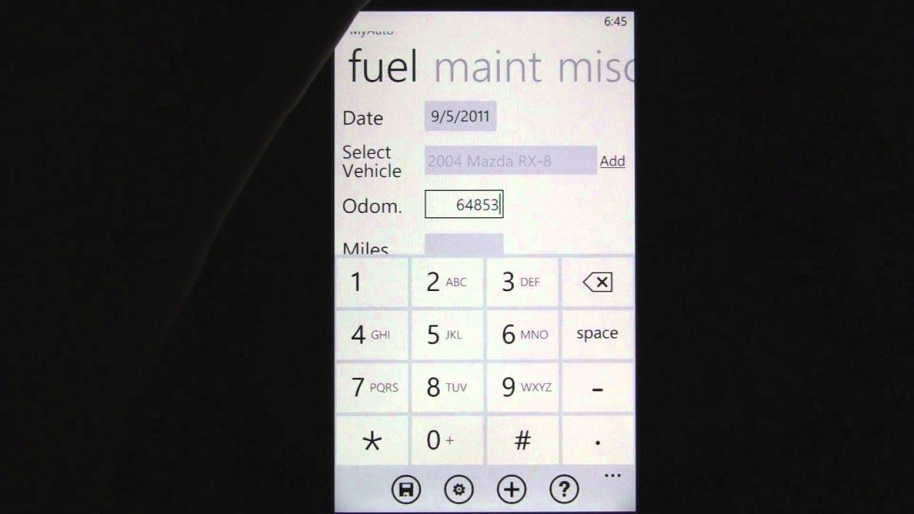 gas mileage app