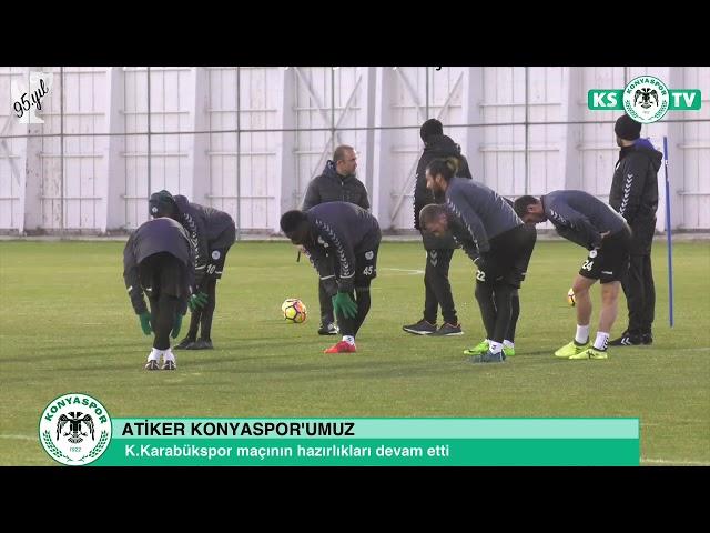 K.Karabükspor maçı hazırlıklarımız devam etti