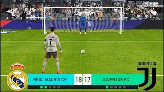 PES 2018 | REAL MADRID vs JUVENTUS FC | Penalty Shootout | Ronaldo vs Real Madrid | Gameplay PC