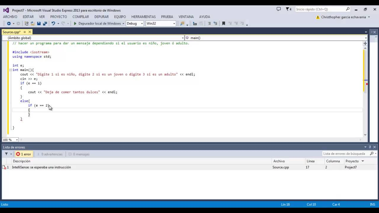 20 Programación En C Condicionales Selección Doble If