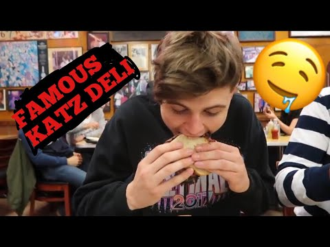 KATZ DELI FOR THE FIRST TIME IN NYC (CRAZY REACTIONS)