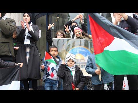 22.05.21 Free Palæstina demonstrationen på Rådhuspladsen i Slagelse