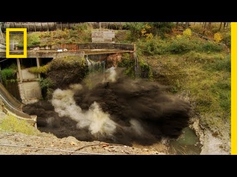 "Spectacular Time Lapse Dam ""Removal"" Video 