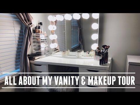 ♡ My GLAM Vanity & Makeup Tour ♡