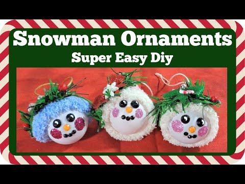 Snowman Christmas Ornaments ⛄ Super easy diy