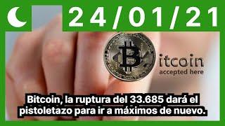 Bitcoin, la ruptura del 33.685 dará el pistoletazo para ir a máximos de nuevo.