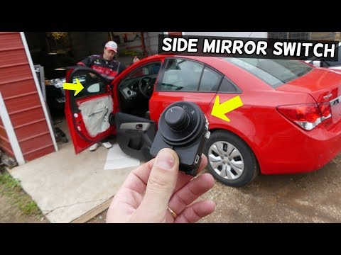 CHEVROLET CRUZE SIDE MIRROR SWITCH REPLACEMENT REMOVAL. SIDE MIRROR NOT WORKING CHEVY CRUZE