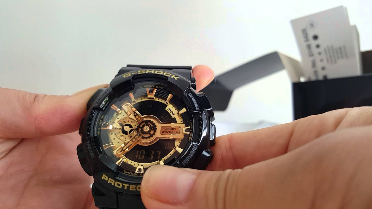 Review G Shock Ga 110gb 1adr And Time Setting Instruction Youtube